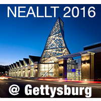 Image of Gettysburg College with text reading NEALLT 2016 @ Gettysburg